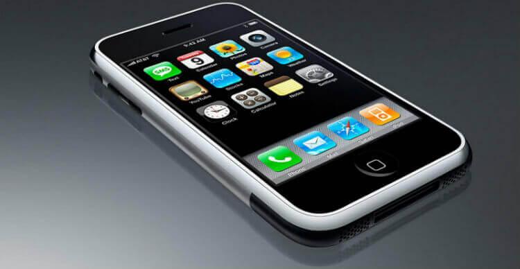 Появление iPhone 2g с iOS