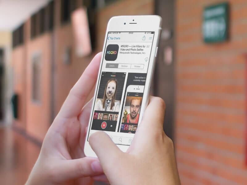 Приложение MSQRD на iPhone