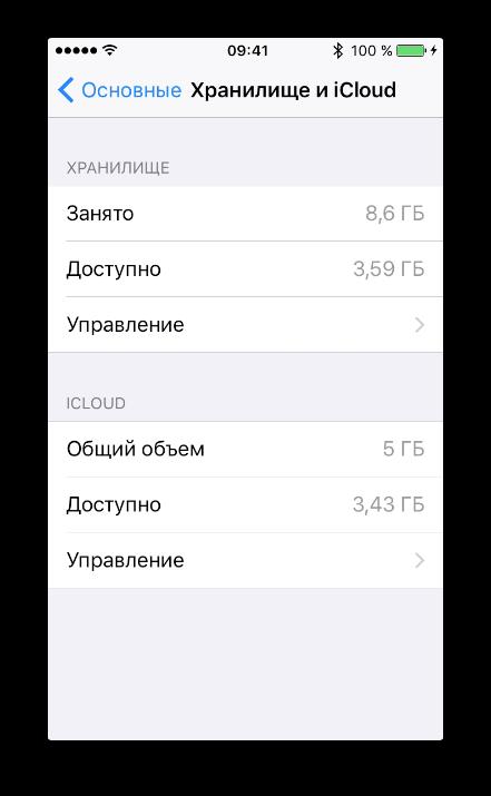 как посмотреть сколько памяти осталось на айфоне