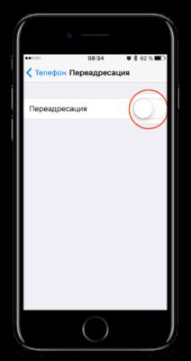 как включить переадресацию на iphone