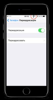 как сделать переадресацию на iphone