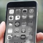 iphone черно белый