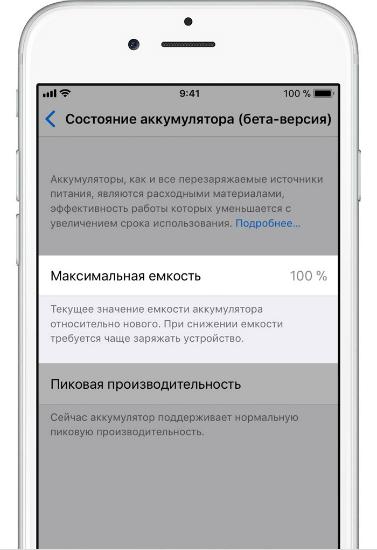 Проверка батареи iPhone