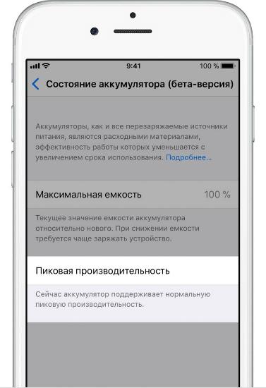 Производительность батареи iPhone