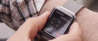 снимок экрана Apple Watch