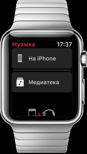 как скинуть музыку на apple watch