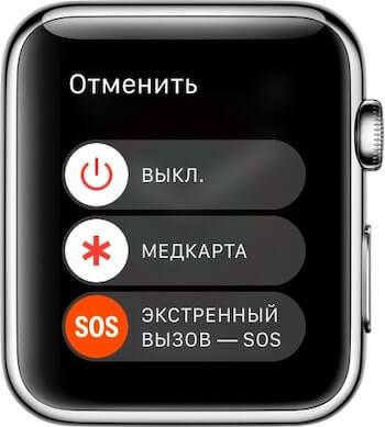 Экстренный вызов на apple watch